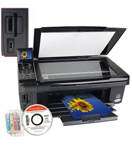 "Epson Stylus NX515 USB 2.0/Ethernet/PictBridge/802.11g Printer Scanner Copier Photo Printer w/Card Reader & 2.5"" LCD"