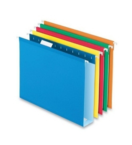 "Esselte Colored Box Bottom Hanging Folder - Letter - 8.5"" x 11"" - 2"" Capacity - 2"" Capacity - 25 / Box"