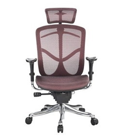 Eurotech Fuzion High Back Red Mesh Chair w/ Aluminum Base
