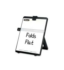 Fellowes 21106 - Non-Magnetic Legal-Size Desktop Copyholder, Plastic, Black