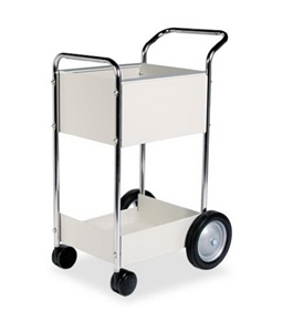 "Fellowes 40924 Steel Mini Mail Cart - 39-1/4""H x 20-1/2""W x 26""D"
