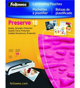 Fellowes 52047 Glossy Laminating Pouches, Legal, 10 mil (50-Pack)