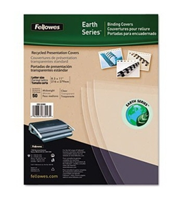 Fellowes 5240001 Earth Series Recycled Binding Covers, Letter, Polypropylene, Clear/Ivory, 50/Pk