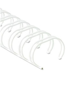 Fellowes 52542 Wire Bindings, 3/8 in. Diameter, 80 Sheet Capacity, White, 25/Pack