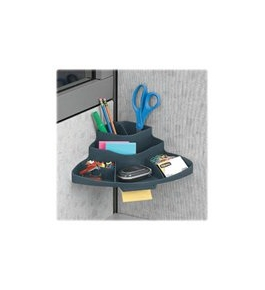 Fellowes 5508801 Partition additions corner organizer, 12-1/2w x 8-1/4d x 4-1/4h, graphite