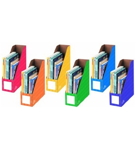 Fellowes 6-Pack Magazine File Folders, Letter, 4 by 11 by 12-1/4-Inch, Assorted