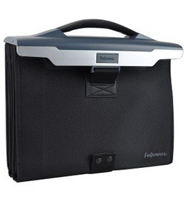 Fellowes 7500901 Fellowes Partition Additions Portable Triple File Pocket, Slate Gray
