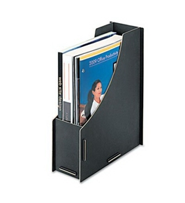 Fellowes 8015801 Recycled Large Magazine File 12 1/4 x 4 1/2 10 1/16 Black 6/Pack