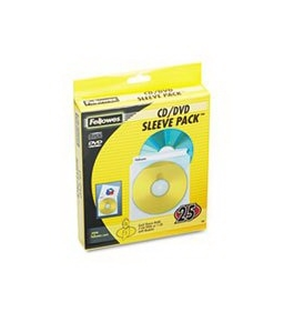 Fellowes 90661 - Two-Sided CD/DVD Sleeve Refills for Softworks File, 25/Pack-FEL90661