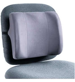 Fellowes 91926 High-Profile Backrest with Soft Brushed Cover, 13w x 4d x 12-5/8h, Graphite