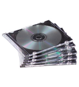Fellowes 98316 NEATO Slim Jewel Cases, Clear, 25/Pack
