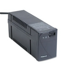 Fellowes 99066 - Line Interactive w/AVR UPS Battery Backup System, Four-Outlet 500 Volt-Amps