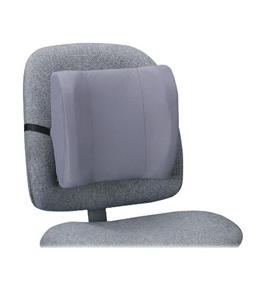 "Fellowes Backrest, High Profile, 13""X4""X12-5/8"", Graphite"