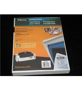 FELLOWES BINDING COVERS -CRC-52253 -8.25X 11.25""