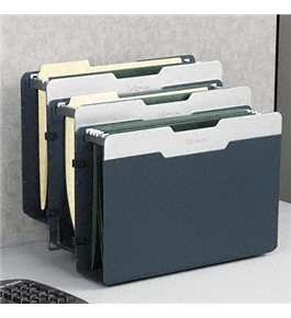 Fellowes Desk Additions Versatile 3-Unit Partition File - Three Sections, Polystyrene, 14 1/8w x 9d x 10h, Gray(sold in packs of 3)