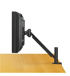 Fellowes Desk-Mount Arm for Flat Panel Monitor, 14-1/2 x 4-3/4 x 24, Black