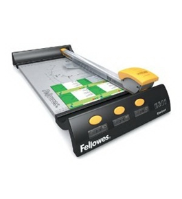 "Fellowes Electron Small Office Trimmer - 4 x Blade(s) - Cuts 10 Sheet - 12"" Cutting Length - Metal Bas"