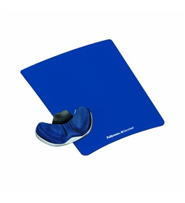 Fellowes Gliding Palm Support with Microban Protection, and Mouse Pad, Foam, Sapphire (9180201)