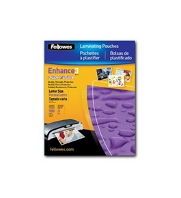 Fellowes Glossy SuperQuick Pouches - Letter, 3 Mil, 100 Pack (5245801) -