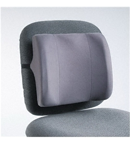 Fellowes High-Profile Backrest with Soft Brushed Cover, 13w x 4d x 12-5/8h, Graphite - Sold as 2 Pack