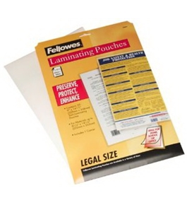 Fellowes Hot Laminating Pouches, Legal, 3 mil, 25 Pack (52006)