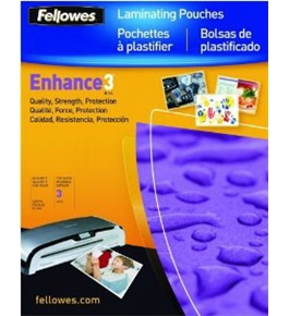 Fellowes Hot Laminating Pouches, Letter, 3 mil, 100 Pack (52454)