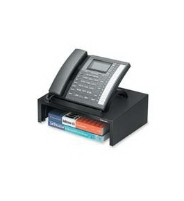 "Fellowes Inc : Phone Stand, w/3"" Storage Space, 13""x9-1/4""x4-3/8"", Black - Sold as 2 Packs of - 1"