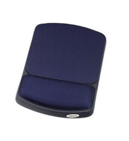 FELLOWES INC WRIST REST PROVIDES EXCEPTIONAL SUPPORT BLUE/BLACK Non-Skid Base