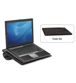 Fellowes Laptop Riser, Non-Skid, 15w x 5/16d x 10 3/4h, Black - Sold As 1 Each