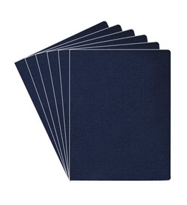 Fellowes Linen Presentation Covers, 11-1/4 Inch x 8-3/4 Inch, Navy, 200 per Pack (52113)