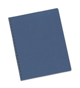 Fellowes Linen Presentation Covers, 8 3/4 Inch X 11 1/4 Inch, 50 Per Pack, Navy (52106)