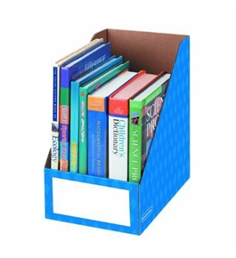 Fellowes Magazine File Holder, Letter, 8 by 11-3/4 by 12-3/4-Inch, Blue