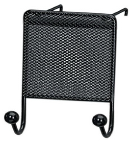 Fellowes Mesh Partition Additions Double Coat Hook, Black (75903)