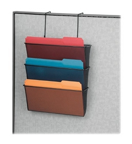 Fellowes Mesh Partition Additions Letter Size Black Triple File Pocket (75901)
