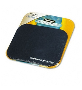 Fellowes Mouse Pad with Microban, Nonskid Base, 9 x 8, Navy - Sold as 2 Packs
