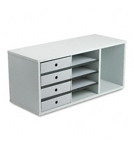 Fellowes Office Organizer, Nine Sections, 29w x 11 7/8d x 13h, Dove Gray