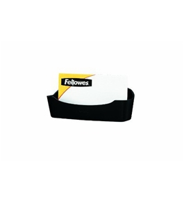 Fellowes Partition Additions Business Card/Paper Clip Holder, 4.125x1.75 Inches, Graphite (75274)