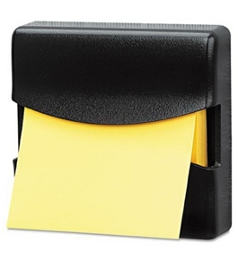 Fellowes Partition Additions Pop-Up Note Dispenser, For 3 x 3 Inches Pads, Graphite (7528201)