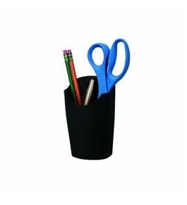 Fellowes Plastic Partition Additions Pencil Cup, 3.5 Inches x 5.56 Inches, Graphite (75272)