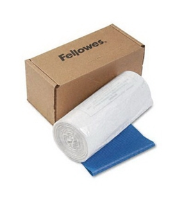 Fellowes Powershred Shredder Bags for Models C-120/20C/220/220C - 50 Bags & Ties per Carton (Clear)