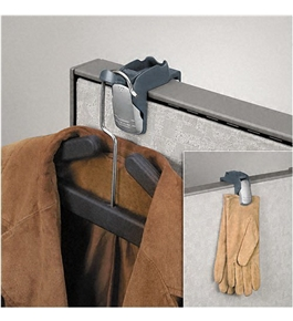 Fellowes Pro Series Partition Additions Coat Hook & Clip, 1 5/8w x 3h, Slate Gray - Sold as 2 Pack