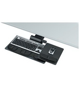 Fellowes Professional Premier Class Keyboard Manager, 28-1/8 x 21-1/4, Charcoal/Black