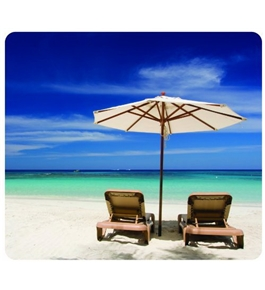 Fellowes Recycled Optical Mousepad - Beach Chairs -5909501