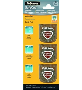 Fellowes SafeCut Rotary Trimmer Blade Kit, Assorted, 3 Pack (5411302)
