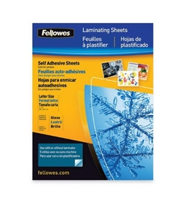 Fellowes Self-Adhesive Sheets, Letter Size, 3 mil, 50 Pack (5221502)