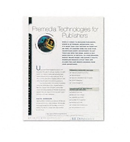 Fellowes Thermal Binding System Presentation Covers COVER, 1/4 THERMAL BIND, WE (Pack of 6)