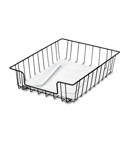 Fellowes Workstation Letter Desk Tray Organizer, Wire, Black (60112) [CD]