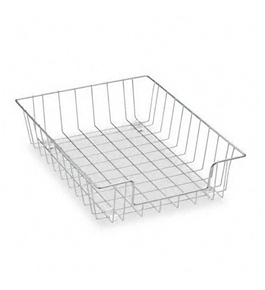 Fellowes Workstation Letter Desk Tray Organizer, Wire, Silver - Sold as 2 Packs of - 1 Total of 2 each