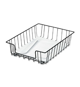 Fellowes Workstation Letter Size Desk Tray Organizer, Wire, Black (60112)