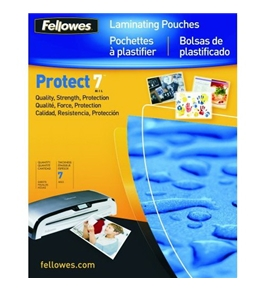 Fellowes Protect 7 Mil Letter Glossy Laminator Pouches, 100 Pack